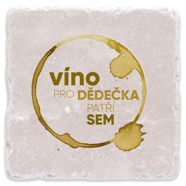 Bílé víno pro dědečka
