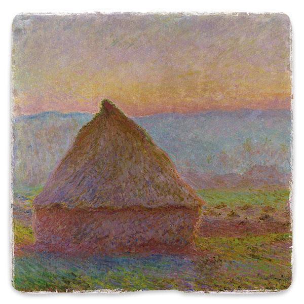 Seník v Giverny při západu slunce